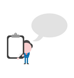 Businessman character with speech bubble and vector