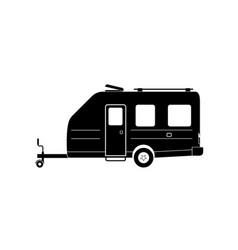 Camper trailer vector