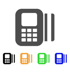 card reader flat icon vector image