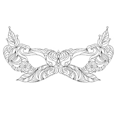 Carnival mask on white background vector