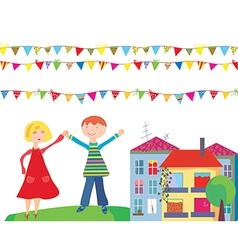 Children flags vector