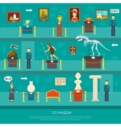 City Museum Exhibition vector