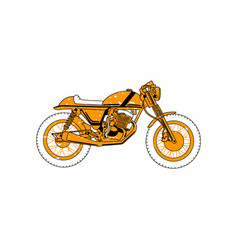 classic motorcycle clipping art good for cutting vector image