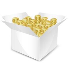 Coin box vector