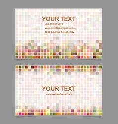 Colorful digital art mosaic business card template vector