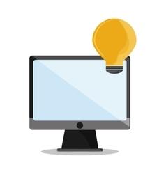 Computer bulb call center design vector