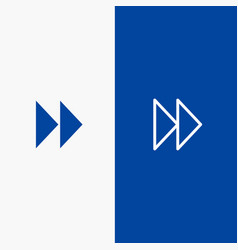 control fast forward media video line and glyph vector image