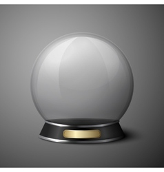 crystal ball for fortune tellers vector image