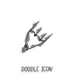 Doodle Pencil Icon Pencil Stub vector