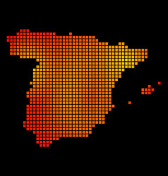 Dotted orange spain map vector