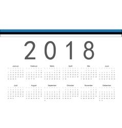 Estonian 2018 year calendar vector image
