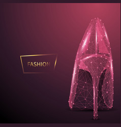 Fashion low poly wireframe banner template vector