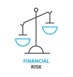 Financial risk concept outline icon linear sign vector