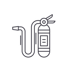 fire extinguisher line icon concept fire vector image