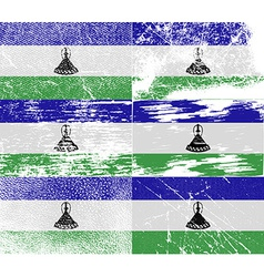 Flag of Lesotho with old texture vector