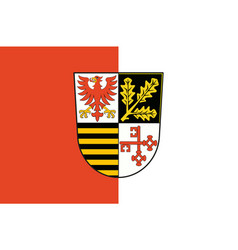 Flag of potsdam-mittelmark in brandenburg germany vector
