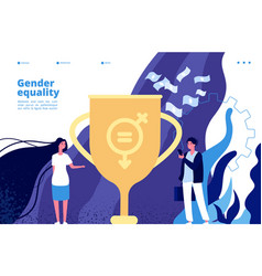 Gender equality concept equal rights and vector