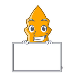 Grinning with board shrimps on a character cartoon vector