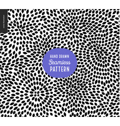 hand drawn black and white pattern vector image