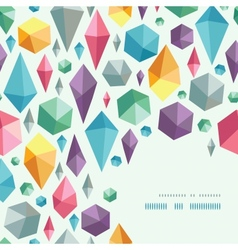 Hanging geometric shapes corner pattern background vector