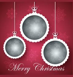 happy new year ball - winter vector image