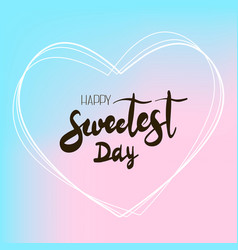 heart sweet day logo simple style vector image