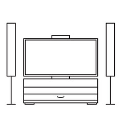 home cinema drawer icon vector image