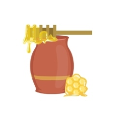 Honey Jar Baking Process And Kitchen Equipment vector