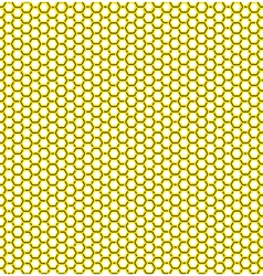 Honeycomb yellow pattern vector