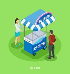 ice cream isometric background vector image
