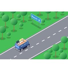 Isometric road trip vector