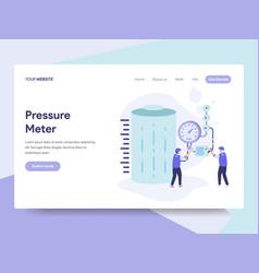 landing page template of gas tank pressure meter vector image