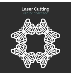 Laser Cutting Template Round Card Die Cut vector