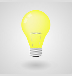 light bulb electricity energy isolated vector image
