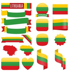Lithuania flags vector