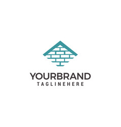 logo template for real estate or building company vector image