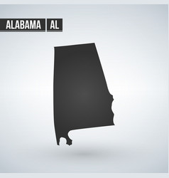 Map us state alabama isolated on modern vector