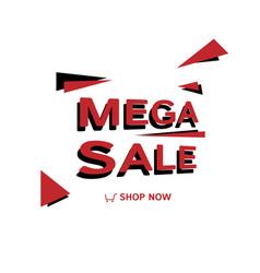 mega sale banner design simple design vector image