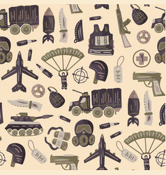 military and army seamless pattern vector image