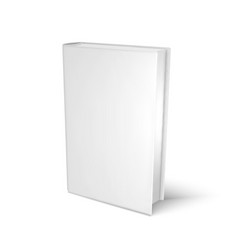 mockup blank book template for design vector image