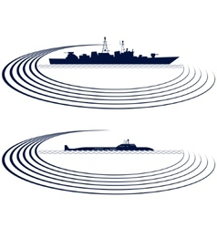 Naval fleet vector