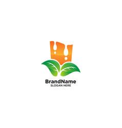 Orange juice logo design inspiration vector