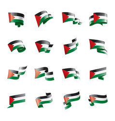 palestine flag on a white vector image
