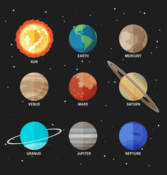 planets solar system vector image
