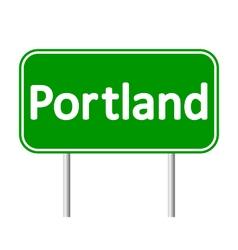 Portland green road sign vector