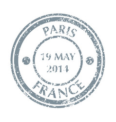 postal stamp from frence vector image