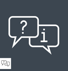 question and answer mark in speech bubble vector image