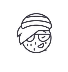 rasta emoji concept line editable concept vector image