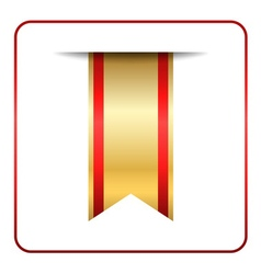 Red gold bookmark isolated vector image vector image