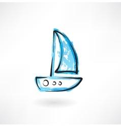 Sailfish grunge icon vector